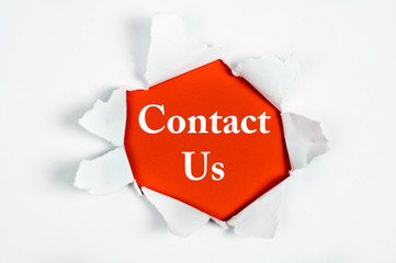 Contact Us under paper