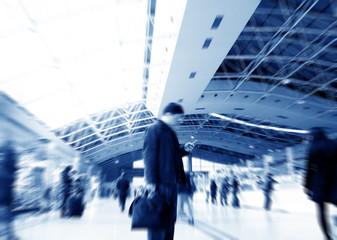 Passengers in Shanghai Pudong International Airport