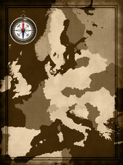Map of modern Europe at the background