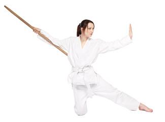 Garden Poster Martial arts karate girl