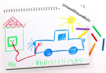 elektroauto kinderbild