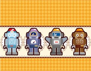 cartoon robot card.