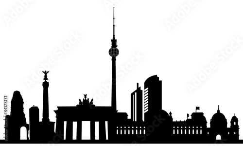 berlin skyline stockfotos und lizenzfreie vektoren auf bild 34173171. Black Bedroom Furniture Sets. Home Design Ideas