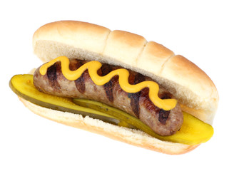 Grilled Bratwurst Isolated