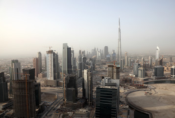 View over Skyscrapers of Dubai, United Arab Emirates