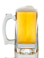 Beer glass on a white background. With Clipping Path