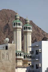 Minaret of a mosque in Muscat, Sultanate of Oman