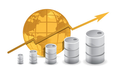 Oil trading concept illustration design