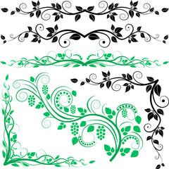 Obraz corners-ornaments 2 - fototapety do salonu