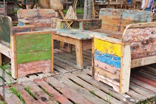 salon de jardin, bois récupération\