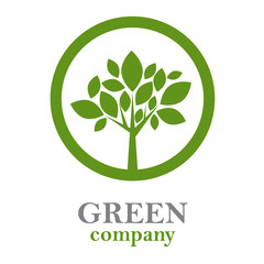 Logo green tree, forestry companies # Vector