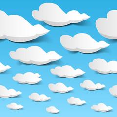 Seamless clouds sky