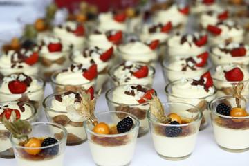 pudding, tiramisu at reception, sweet cake