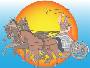 Chariot with horses