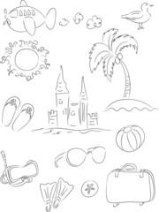 Vacation Clip Art Set