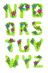 Alphabet Tropical Floral N to Z