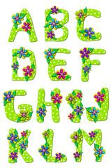 Alphabet Tropical Floral A to M