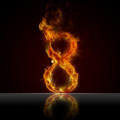 Texteffekt Flammen 8