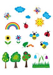 Kinder Illustration set