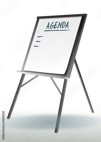 "Flipchart Agenda"" Stock Image And Royalty-Free Vector Files On"