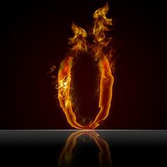 Texteffekt Flammen 0