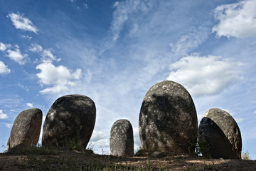 Megalithic monument of Almendres, Evora Wall mural