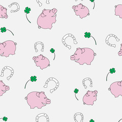 Happiness seamless pattern