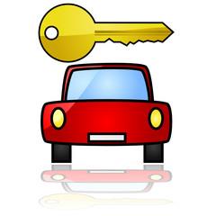 Car with key