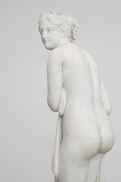 Classical sculpture on white background