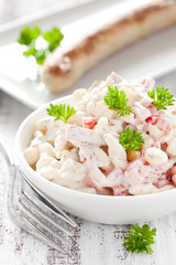 frischer Nudelsalat