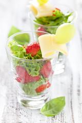 Appetizer mit Erdbeeren