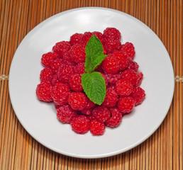 Raspberry fruits