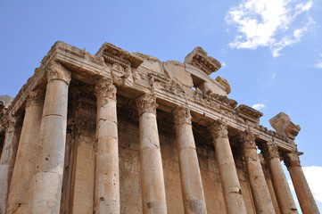 Bacchus temple at the Roman ancient ruins of Baalbek, Lebanon.