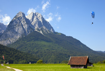view over the zugspitze Wall mural