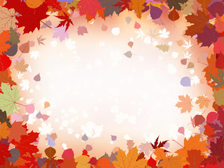 Autumn leaves border for your text. EPS 8