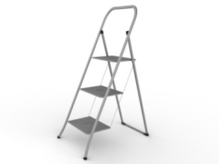 Metal ladder on a white background №2