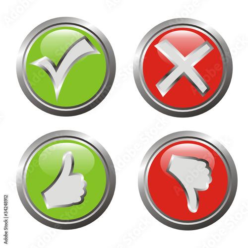 4 button, zustimmung-ablehnung\