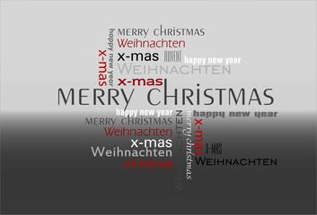 Text Schrift Collage Weihnachten