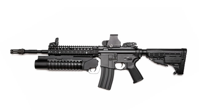 M4A1 assault rifle with grenade launcher