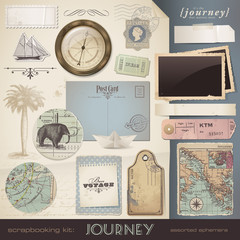 digital scrapbooking kit: Journey - assorted ephemera