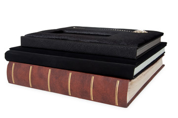 photo album Big black book with clipping path