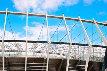 Deurstickers Stadion stadium construction