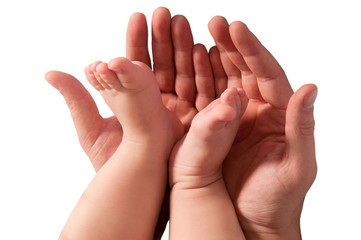 hands of a man and a child
