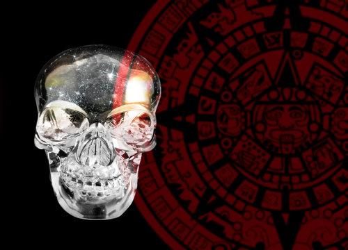 Crystal skull and Mayan calander
