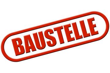 Stempel rot rel BAUSTELLE