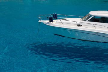 Boat on beautiiful water - Lampedusa, Italy