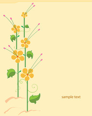 Card Flower design
