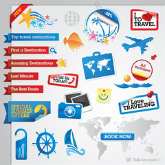 Collection of travel elements