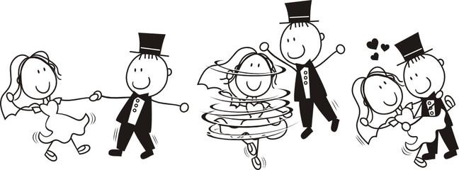 first dance wedding cartoon