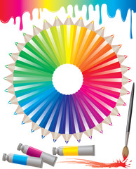 Spectrum of colored pencils